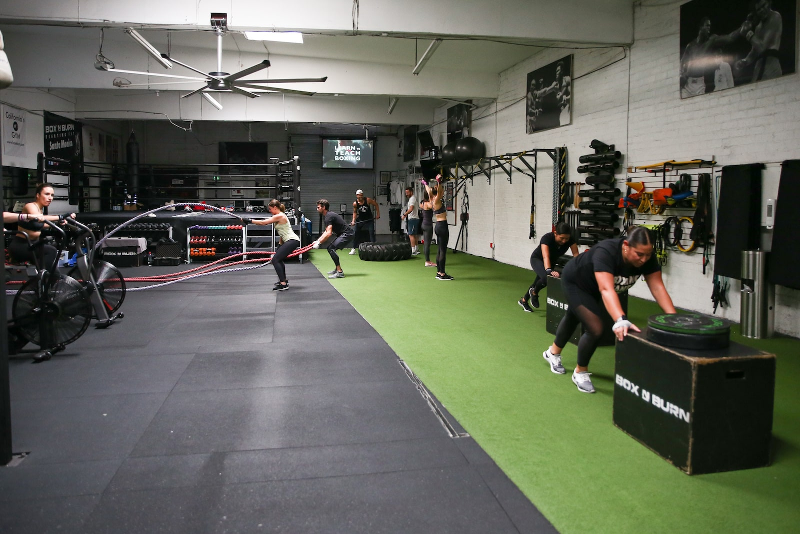 Plenty of Training Space at Box N Burn for functional training