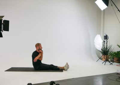 on location recording fitness video Santa Monica