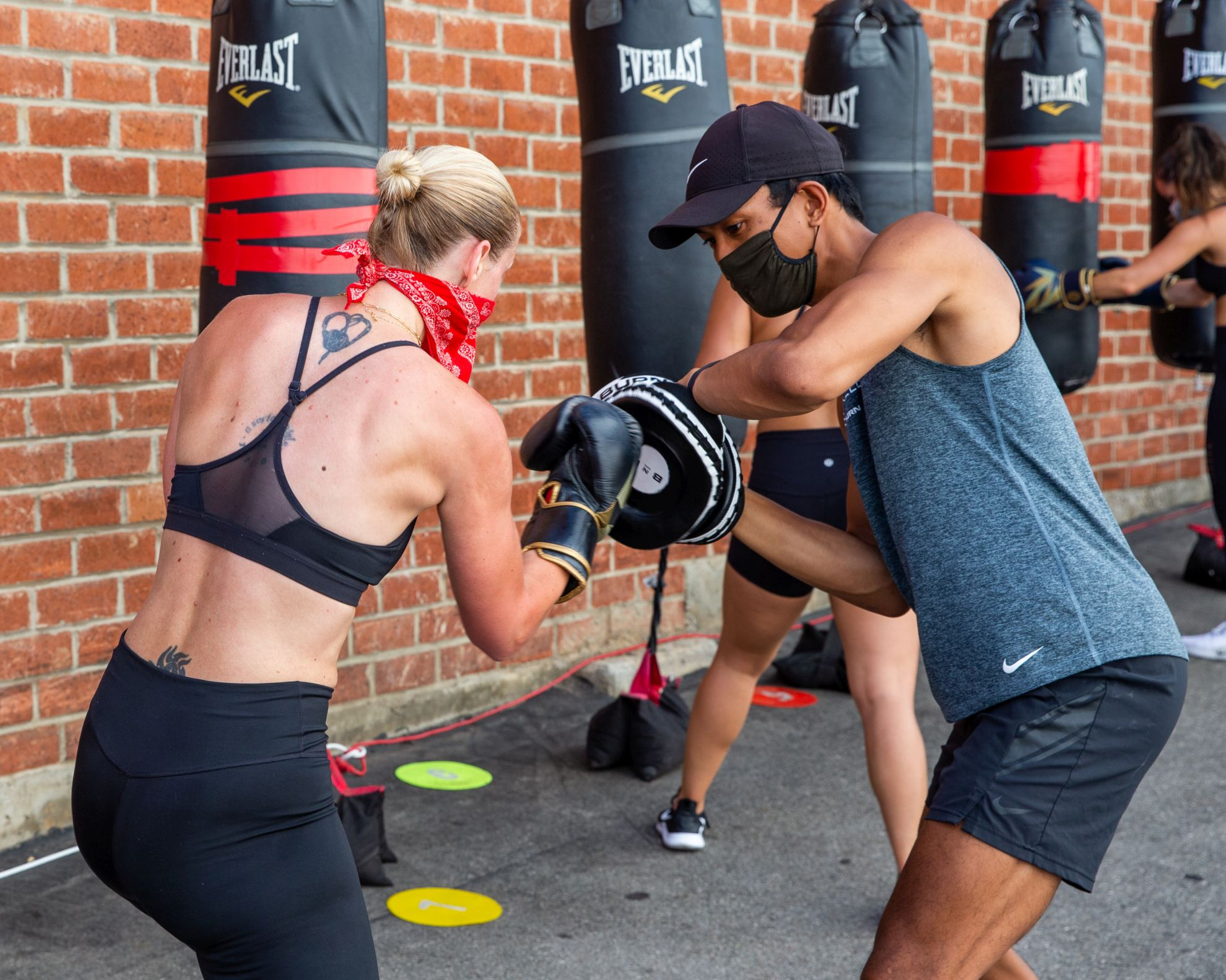 Lincoln Blvd. Santa Monica gym clients outside group class